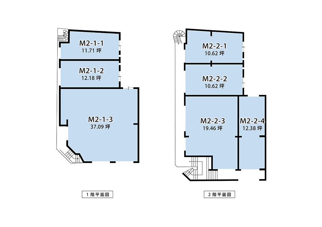 ミカド第二ビル平面図